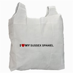 I Love My Sussex Spaniel Recycle Bag (One Side)