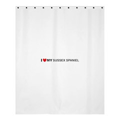 I Love My Sussex Spaniel Shower Curtain 60  x 72  (Medium)