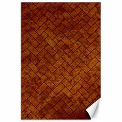 Brick2 Black Marble & Brown Marble Canvas 20  X 30