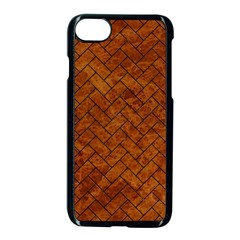Brick2 Black Marble & Brown Marble Apple Iphone 7 Seamless Case (black)