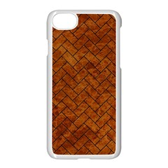 Brick2 Black Marble & Brown Marble Apple Iphone 7 Seamless Case (white)