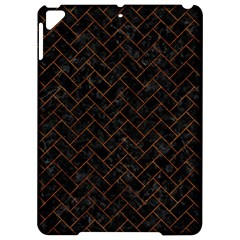 Brick2 Black Marble & Brown Marble (r) Apple Ipad Pro 9 7   Hardshell Case