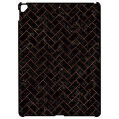 Brick2 Black Marble & Brown Marble (r) Apple Ipad Pro 12 9   Hardshell Case