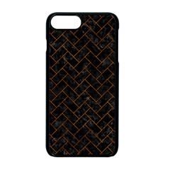 Brick2 Black Marble & Brown Marble (r) Apple Iphone 7 Plus Seamless Case (black)