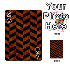 Chevron1 Black Marble & Brown Marble Playing Cards 54 Designs