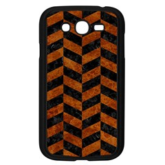 Chevron1 Black Marble & Brown Marble Samsung Galaxy Grand Duos I9082 Case (black)