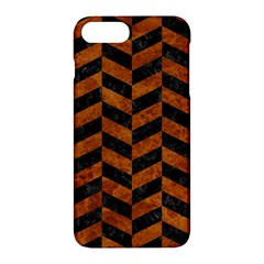 Chevron1 Black Marble & Brown Marble Apple Iphone 7 Plus Hardshell Case