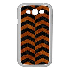 Chevron2 Black Marble & Brown Marble Samsung Galaxy Grand Duos I9082 Case (white)