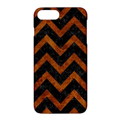 Chevron9 Black Marble & Brown Marble Apple Iphone 7 Plus Hardshell Case