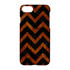 Chevron9 Black Marble & Brown Marble Apple Iphone 7 Hardshell Case