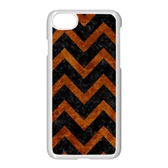 Chevron9 Black Marble & Brown Marble Apple Iphone 7 Seamless Case (white)