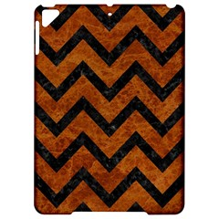 Chevron9 Black Marble & Brown Marble (r) Apple Ipad Pro 9 7   Hardshell Case
