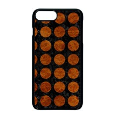 Circles1 Black Marble & Brown Marble Apple Iphone 7 Plus Seamless Case (black)