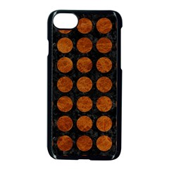 Circles1 Black Marble & Brown Marble Apple Iphone 7 Seamless Case (black)