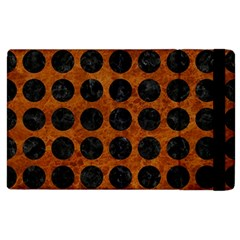 Circles1 Black Marble & Brown Marble (r) Apple Ipad 2 Flip Case