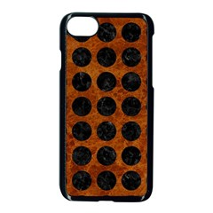 Circles1 Black Marble & Brown Marble (r) Apple Iphone 7 Seamless Case (black)
