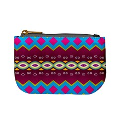 Rhombus And Ovals Chains                                                                                                               mini Coin Purse
