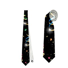 Christmas Decorative Pattern Vector Neckties (one Side)