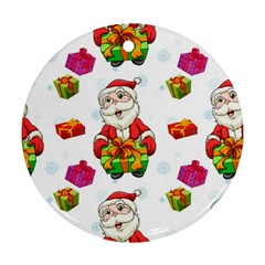 Xmas Patterns  Ornament (round)