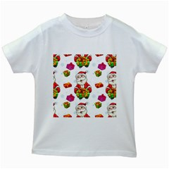 Xmas Patterns  Kids White T Shirts