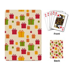 Christmas Gift Box Vector Seamless Pattern Vector Playing Card
