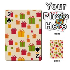Christmas Gift Box Vector Seamless Pattern Vector Playing Cards 54 Designs
