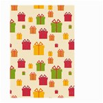 Christmas Gift Box Vector Seamless Pattern Vector Small Garden Flag (Two Sides) Back
