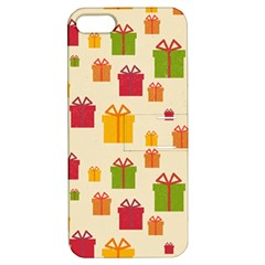 Christmas Gift Box Vector Seamless Pattern Vector Apple Iphone 5 Hardshell Case With Stand
