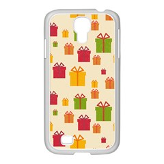 Christmas Gift Box Vector Seamless Pattern Vector Samsung Galaxy S4 I9500/ I9505 Case (white)