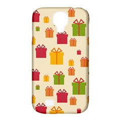Christmas Gift Box Vector Seamless Pattern Vector Samsung Galaxy S4 Classic Hardshell Case (pc+silicone)
