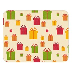 Christmas Gift Box Vector Seamless Pattern Vector Double Sided Flano Blanket (large)