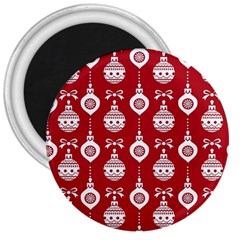 Abstract Christmas Seamless Background Vector Graphic 3  Magnets