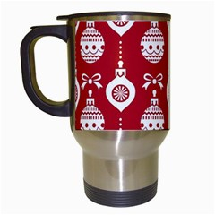 Abstract Christmas Seamless Background Vector Graphic Travel Mugs (white)