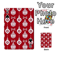 Abstract Christmas Seamless Background Vector Graphic Playing Cards 54 Designs