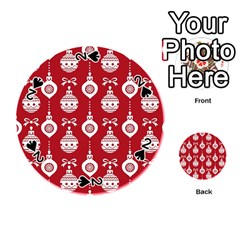 Abstract Christmas Seamless Background Vector Graphic Playing Cards 54 (round)