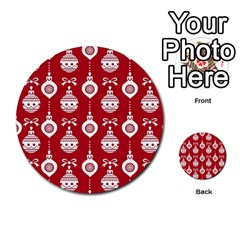 Abstract Christmas Seamless Background Vector Graphic Multi-purpose Cards (Round)