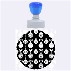 Abstract Christmas Seamless Background Vector Graphic Rubber Round Stamps (Large)