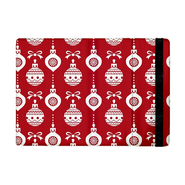 Abstract Christmas Seamless Background Vector Graphic Apple iPad Mini Flip Case