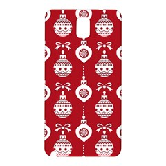Abstract Christmas Seamless Background Vector Graphic Samsung Galaxy Note 3 N9005 Hardshell Back Case