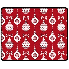 Abstract Christmas Seamless Background Vector Graphic Double Sided Fleece Blanket (medium)