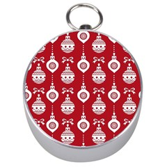 Abstract Christmas Seamless Background Vector Graphic Silver Compasses
