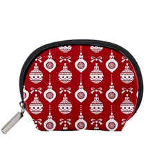 Abstract Christmas Seamless Background Vector Graphic Accessory Pouches (small)