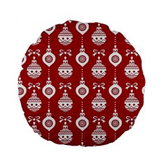 Abstract Christmas Seamless Background Vector Graphic Standard 15  Premium Flano Round Cushions