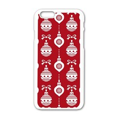 Abstract Christmas Seamless Background Vector Graphic Apple Iphone 6/6s White Enamel Case