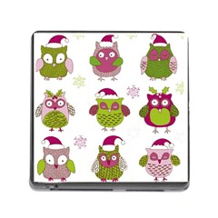 Cartoon Christmas Owl Cute Vector Memory Card Reader (square)