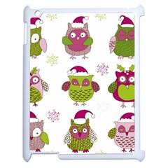 Cartoon Christmas Owl Cute Vector Apple Ipad 2 Case (white)