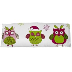 Cartoon Christmas Owl Cute Vector Body Pillow Case Dakimakura (two Sides)