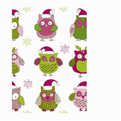 Cartoon Christmas Owl Cute Vector Large Garden Flag (two Sides)