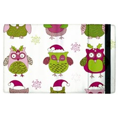 Cartoon Christmas Owl Cute Vector Apple Ipad 3/4 Flip Case