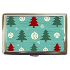Christmas Tree With Snow Seamless Pattern Vector Cigarette Money Cases